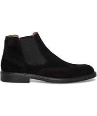 Eram Chelsea boots croûte de cuir noir
