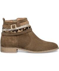 Eram boots croûte de cuir camel