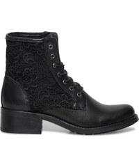 Eram Boots dentelle cuir noir