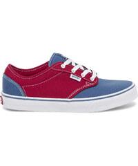 Tennis toile Vans rouge et bleue