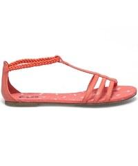 E-you Sandale spartiate corail fluo