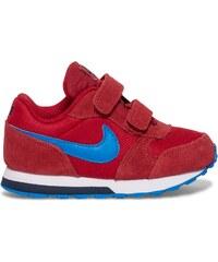 Basket scratch Nike cuir rouge garcon