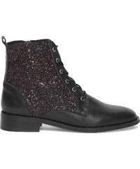 Eram Boots paillettes cuir noir