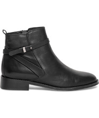 Eram Boots boucle cuir noir