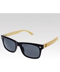 VeyRey dřevěné sluneční brýle Sawdust černá skla.