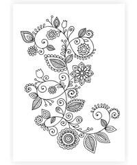 Lesara Wandbild zum Ausmalen Blumen 70x50cm - Design 1