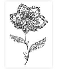 Lesara Wandbild zum Ausmalen Blumen 70x50cm - Design 2