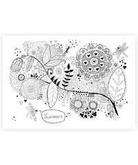Lesara Wandbild zum Ausmalen Blumen 70x50cm - Design 3