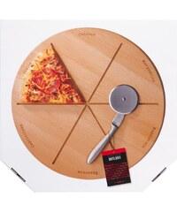 NAPOLI Podnos na pizzu s řezacím kolečkem