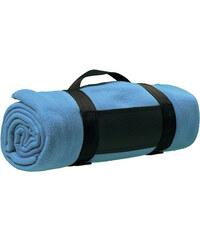 Fleecová deka s popruhem přes rameno - Modrá univerzal