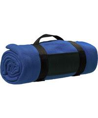 Fleecová deka s popruhem přes rameno - Královská modrá univerzal