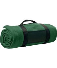 Fleecová deka s popruhem přes rameno - Zelená univerzal