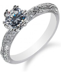 Meucci Stříbrný prsten s výrazným zirkonem