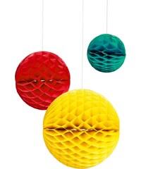 MAJA Papírová dekorační koule, 3 ks