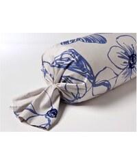 Inspiration par Anne de Solène Hibiscus - Taie d'oreiller/traversin - bleu