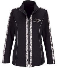 Sweat bunda MONA černá-kamenná