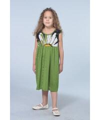 Módní dětské letní šaty s květinou