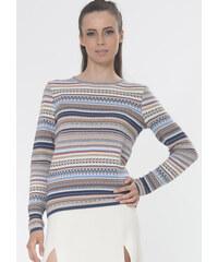 RITO Dámský svetr s kontrastním vzorem