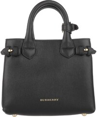 Burberry Sacs portés main, House Check Derby Leather Baby Banner Tote Black en noir