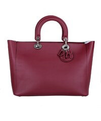 Christian Dior Sacs portés main, Lady Dior Large Tote Bordeaux en rouge