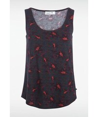 Débardeur femme motifs multicolores Rouge Coton - Femme Taille L - Bonobo