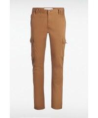 Pantalon homme avec poches sur les cotés Marron Coton - Homme Taille 36 - Bonobo