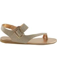 Lesara Zehentrenner-Sandale mit Fersenriemen - 36