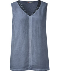 Street One - T-shirt à paillettes Falka - endless blue