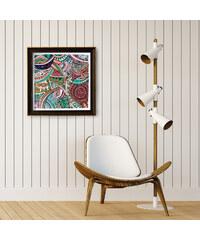 Lesara Wandbild zum Ausmalen abstrakt 50x50cm - Design 1
