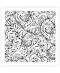 Lesara Wandbild zum Ausmalen abstrakt 50x50cm - Design 3