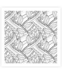 Lesara Wandbild zum Ausmalen abstrakt 50x50cm - Design 5