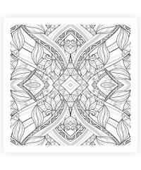 Lesara Wandbild zum Ausmalen abstrakt 50x50cm - Design 6