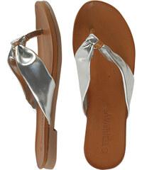 Lesara Zehentrenner-Sandale in Metallic-Optik - 37