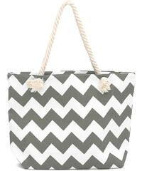 Lesara Shopper im Zick-Zack-Design - Grau