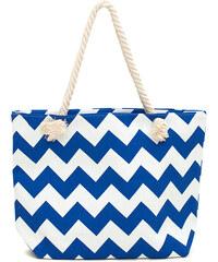 Lesara Shopper im Zick-Zack-Design - Blau