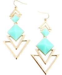 Lesara Statement-Ohrringe im geometrischen Design - Blau