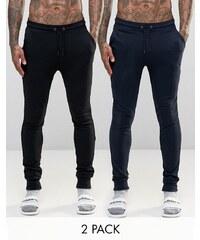 ASOS - Loungewear - Lot de 2 pantalons de jogging super skinny - ÉCONOMISEZ 17 - Multi