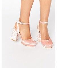 ASOS PUTNEY Velvet High Heels - Rosa