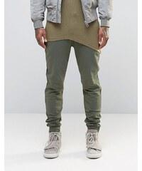 ASOS - Pantalon de survêtement skinny - Kaki - Rose