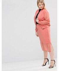 Pink Clove - Jupe à ourlet transparent - Rose
