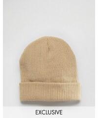 Reclaimed Vintage - Bonnet oversize - Sable - Beige