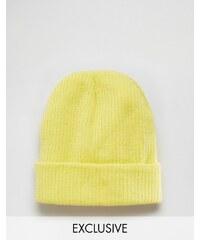Reclaimed Vintage - Bonnet oversize - Jaune - Jaune