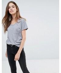 Replay - T-Shirt mit Tasche vorn - Grau