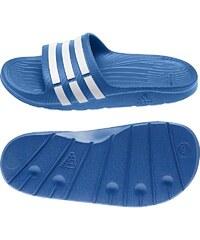 Dětské pantofle Adidas Duramo Slide 32 MODRÁ - BÍLÁ