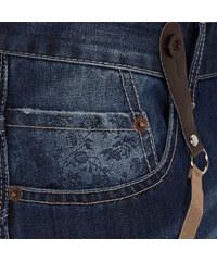 Lesara Herren-Jeans mit Hosenträgern - Blau - 36