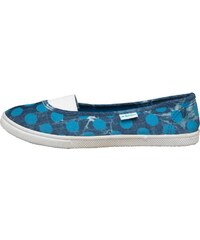 Beach Athletics Damen Dinart Polka Dot Slip On Plimsoll Freizeit Schuhe Denim/Blue