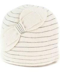Art of Polo Vlněný klobouk s mašlí bílý