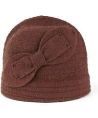 Art of Polo Vlněný klobouk s mašlí tmavě hnědý