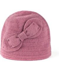 Art of Polo Vlněný klobouk s mašlí růžový