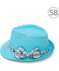 Art of Polo Dívčí trilby klobouk s mašlí světle modrý